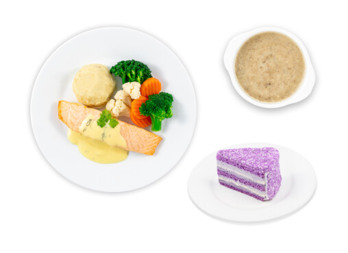 IKEA Family - Restaurant Offers Salmon fillet with hollandaise sauce and mushroom soup